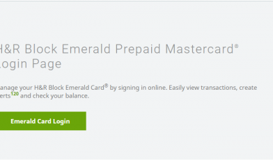Emerald-Card-Login-Page-H-R-Block Logo