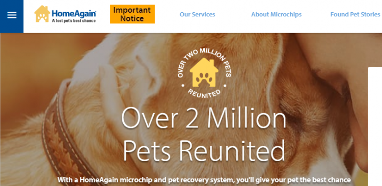HomeAgain Pet ID Recovery Service