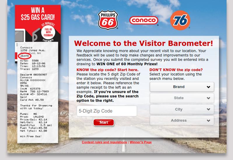 Phillips66 Visitor Barometer Survey