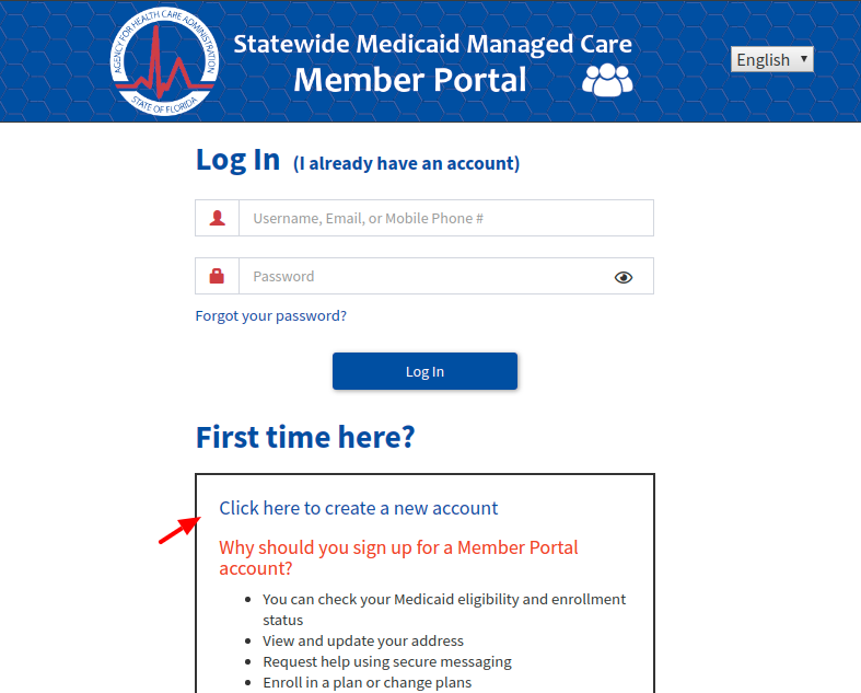 FL Statewide Medicaid Managed Care Create Account