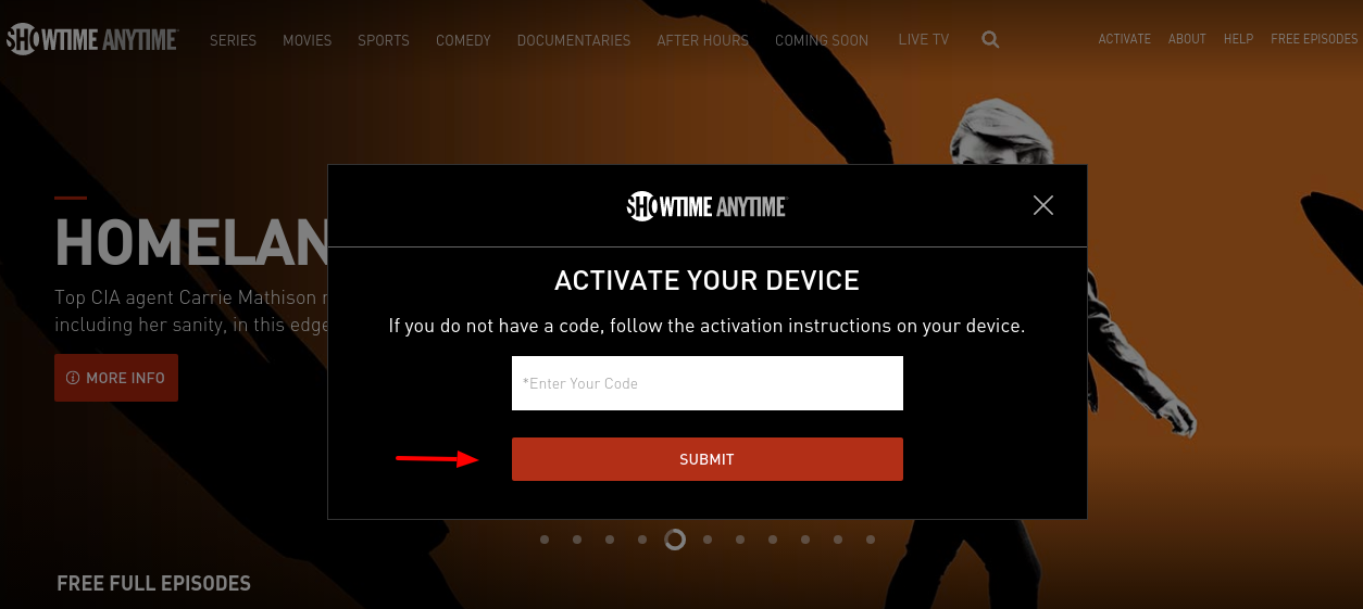 SHOWTIME ANYTIME Sctivate