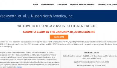 Sentra Versa CVT submit a claim Logo