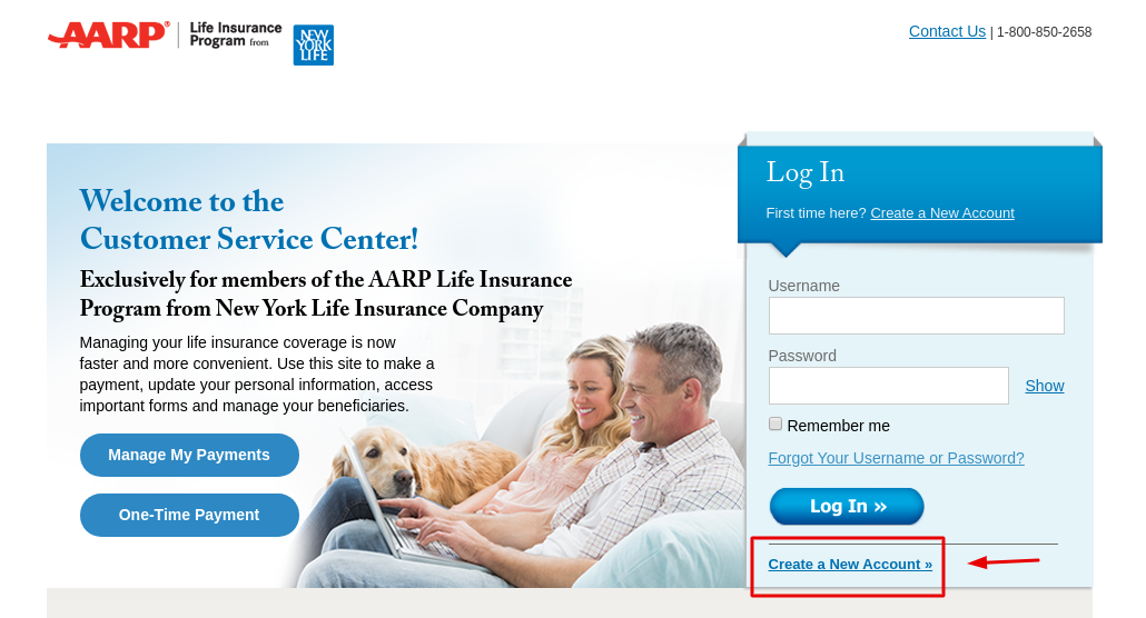 AARP Create Account