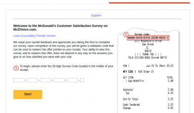 McDonald's Customer Survey