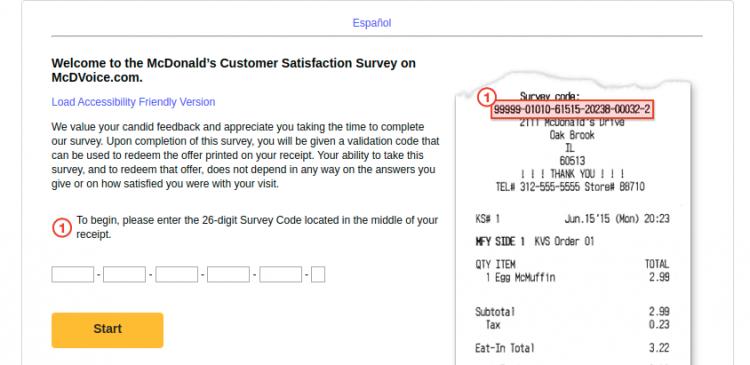 McDonald's Customer Survey