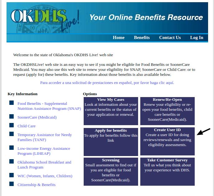 OKDHS Create User