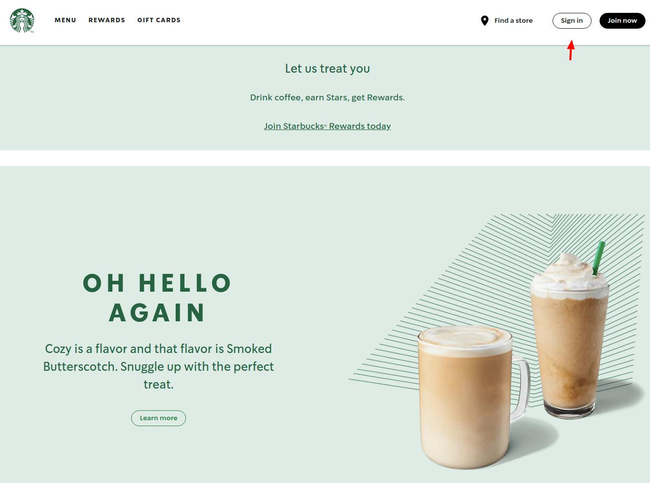 Starbucks Coffee Company Sign In