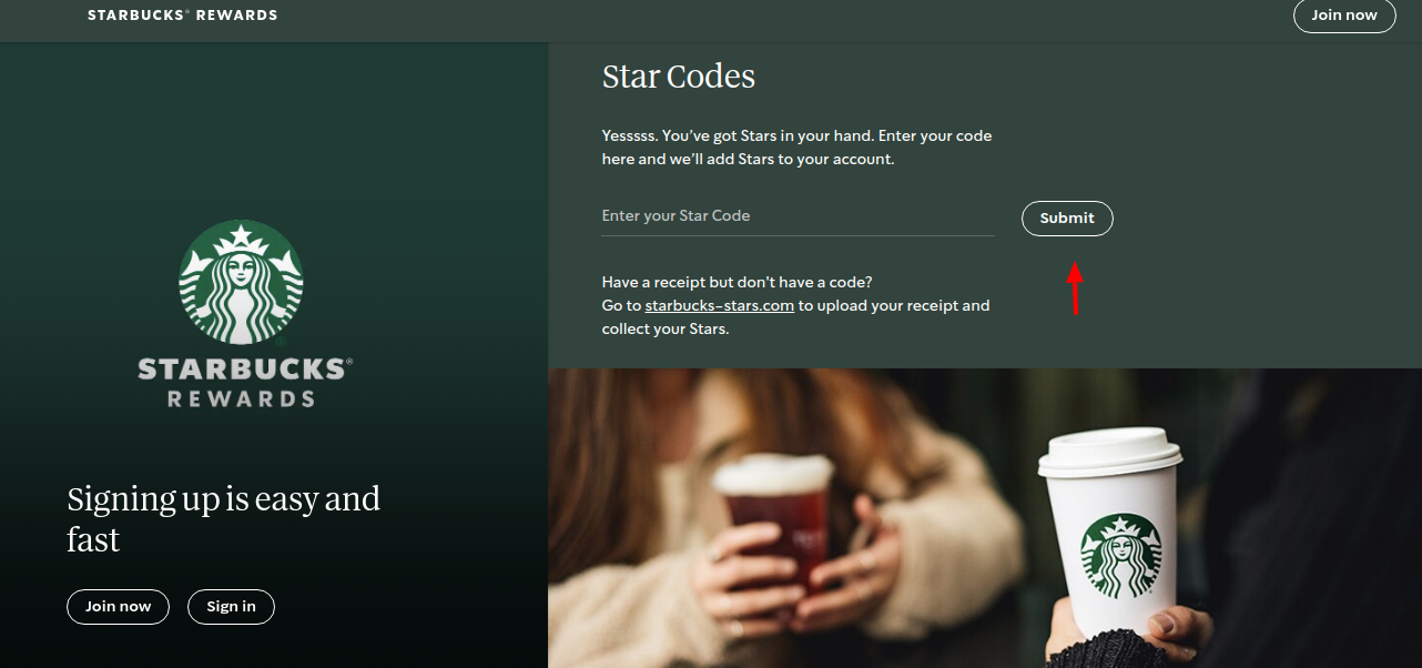 Starbucks Coffee Star Code