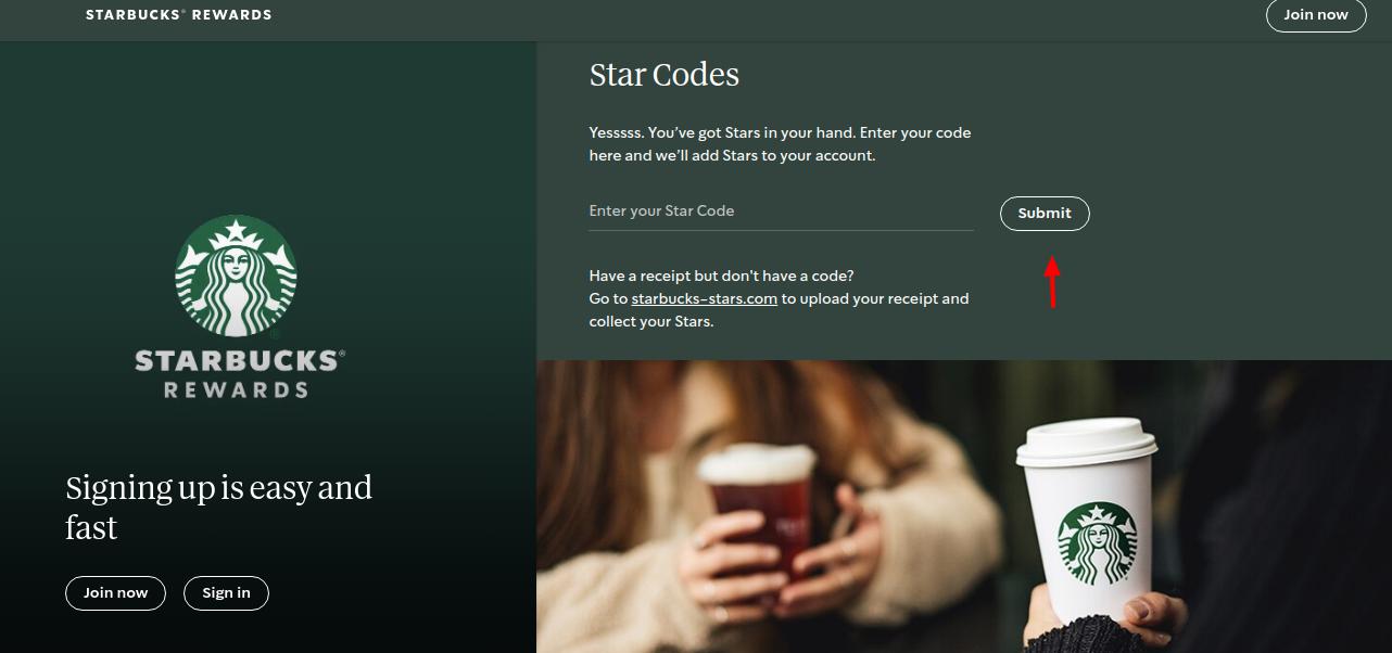 Starbucks Coffee Star Code