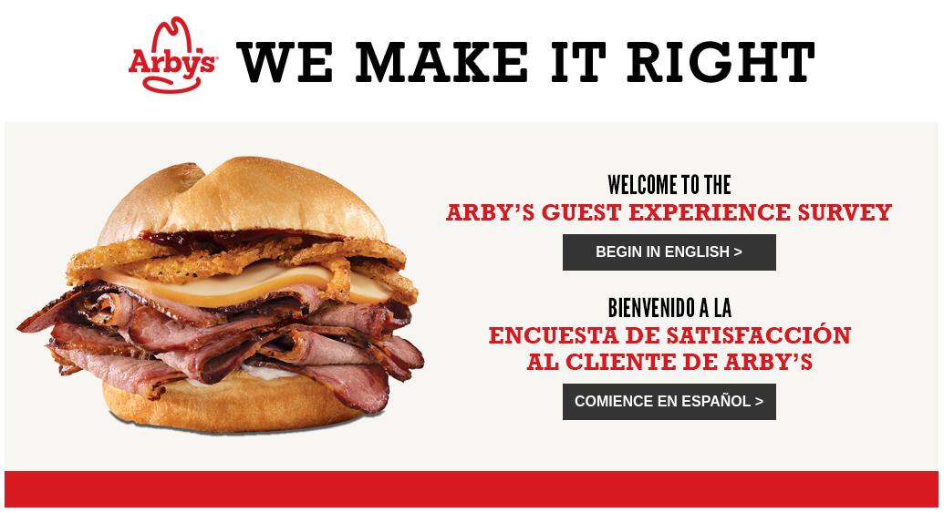 Arby's customer Survey