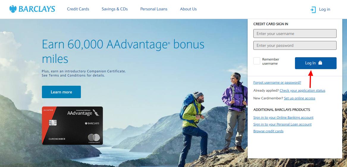 Barclays Credit Card Login