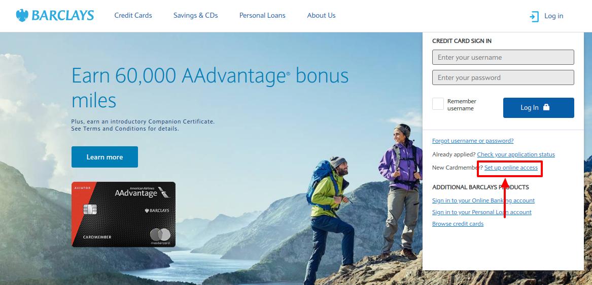 Barclays Credit Card Set Up