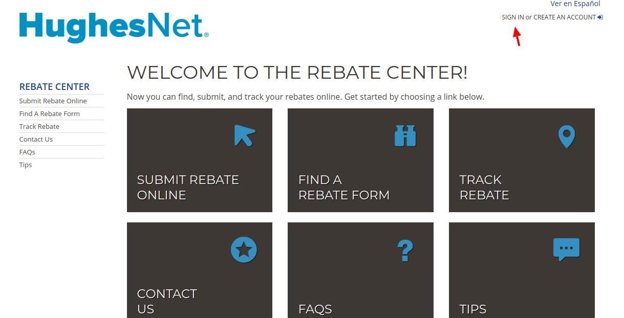 HughesNet Rebate Center Login