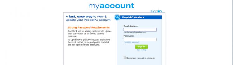 peoplepc login