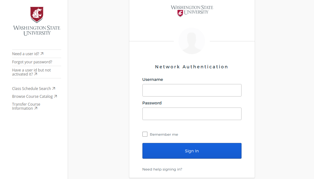 Washington State University Login