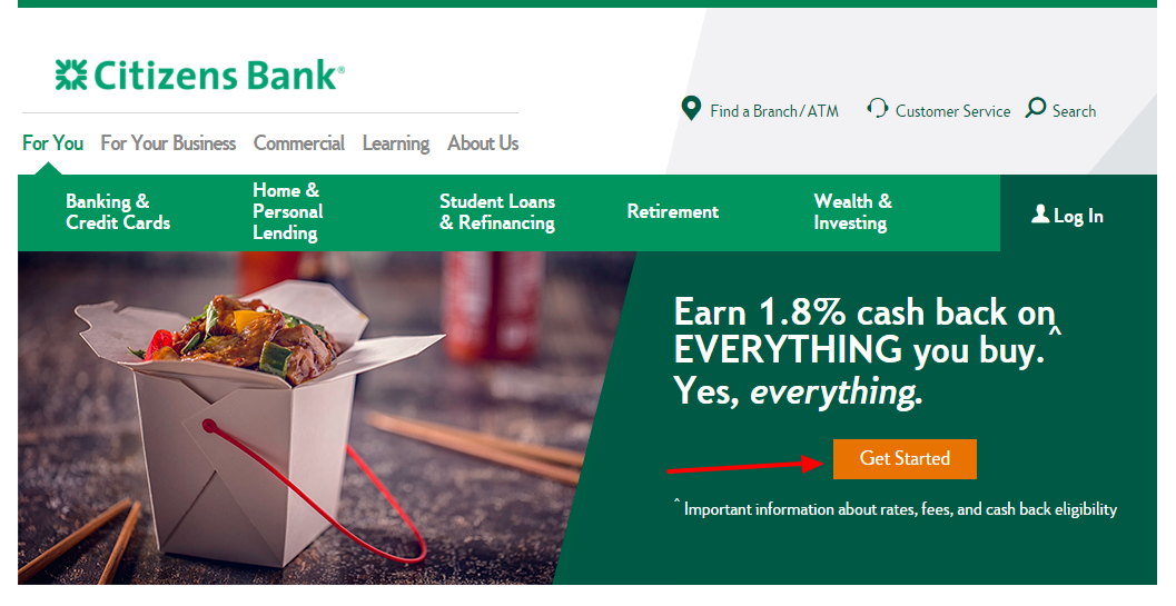Citizens Bank Credit Card Get Started