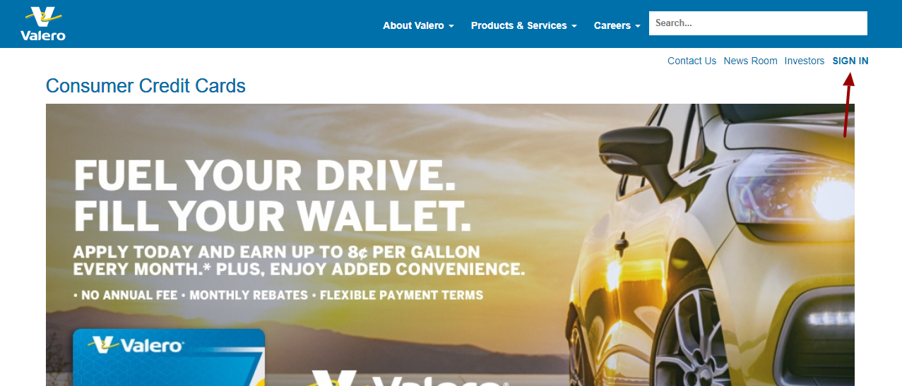 Valero Credit Card Login