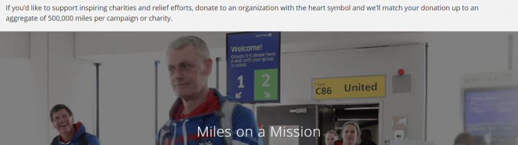 donate miles to charity logo