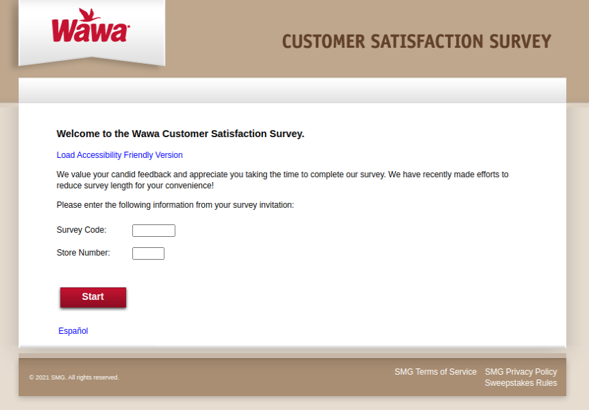 Wawa Customer Survey