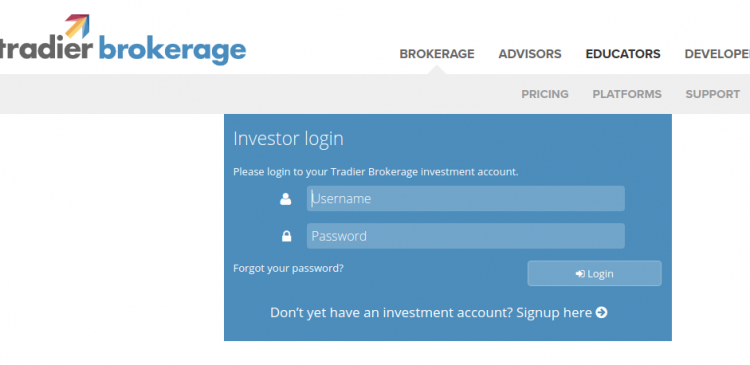 Tradier Brokerage logo