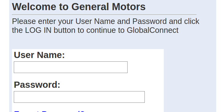 gm global connect login