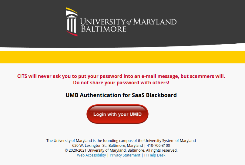 umd blackboard login